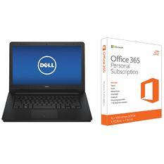 Bộ Laptop Dell Inspiron 3452 - Y7Y4K1 14.0inch (Đen) + Phần mềm office 365 bản quyền