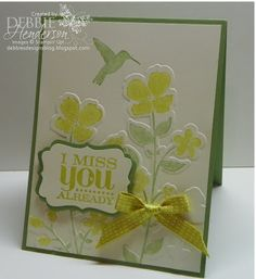 Stampin' Up! Wildflower Meadow by Debbie Henderson, Debbie's Designs.