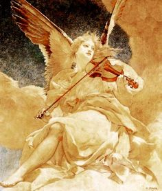 light approaches as death approaches veil thinner art painting french angels angel violin art history Henri Pinta L . Angel Aesthetic, Aesthetic Art, Bel Art, Violin Art, I Believe In Angels, Angels And Demons, Classical Art, Renaissance Art, Pretty Art