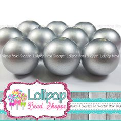 Hey, I found this really awesome Etsy listing at https://www.etsy.com/listing/240874678/20mm-silver-pearls-solid-chunky-beads