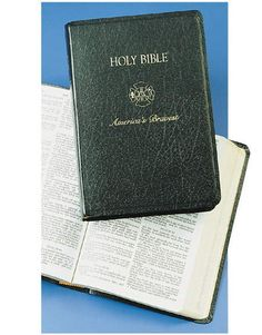 This is really an interesting gift--A richly grained black leatherflex cover. The King James Version Firefighter Bible is embossed with the Maltese Cross in 23k gold leaf and have Velva Gold page edging. Well illustrated. These firefighter bibles are in stock ready for immediate delivery.