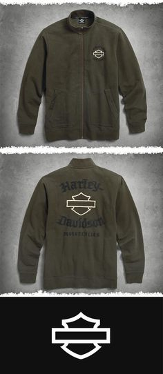 87dd736b9b3 Harley-Davidson Men s Embroidered Activewear Jacket Motorbike Parts