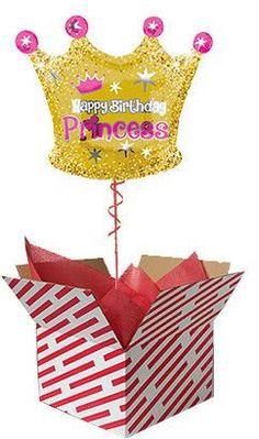 Birthday Princess Crown Balloon #balloon #princess #crown #birthday Gifts For 18th Birthday, Best Birthday Gifts, 21st Birthday, 60th Birthday Balloons, Balloon Balloon, Princess Birthday, Crown, 50th, Birthdays