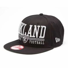 Oakland Raiders New Era 9Fifty Lateral Snapback Cap Product ID: 503812410000 Regular price: $29.99 Sale price: $17.00