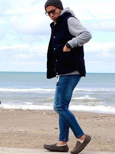 Mens Fashion Blazer, Mens Boots Fashion, Dope Fashion, Jeans Fashion, Fashion Room, Fashion Tips, Mens Down Vest, Older Mens Fashion, Outdoor Fashion