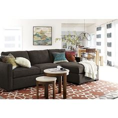 Doba 6'x9' Rug | Crate and Barrel Purchase a gray couch like this