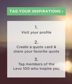 Meet #Levo100's RISING STARS—Transforming leading companies and industries from the inside. http://www.levo.com/levo100