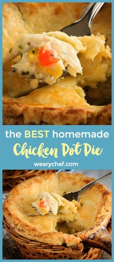 This homemade, from scratch chicken pot pie is actually super easy to make. One of our favorite meals, this easy chicken pot pie is comfort food at it's finest!