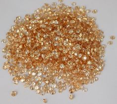 100 Pieces Champagne Colour Cubic Zirconia Round 2.5mm Normal Cut Loose Gemstone #Raagarw