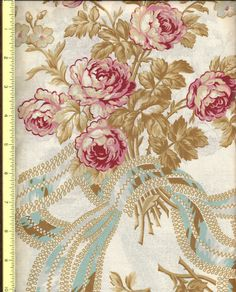 Roses de Noel by Robyn Pandolph Cream 108  quiilt back fabric