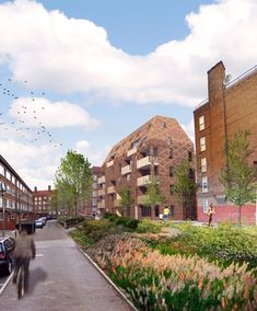 Peabody housing competition shortlist shares future ideas of affordable housing Landscape Architecture Design, Urban Architecture, Residential Architecture, Peabody Housing, Social Housing, Affordable Housing, Site Design, Design Ideas, Types Of Houses