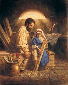 St. Joseph and sweet little Jesus - Corbert Gauthier (American)