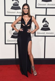 Grammys 2016 Celebrity Hairstyles & Looks | Alessandra Ambrosio