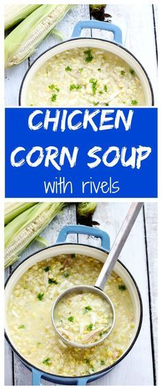 Chicken Corn Soup with Rivels Pennsylvania Dutch Chicken Corn soup with homemade dough rivels. Make this Amish classic soup recipe; it's comforting, hearty and a PA favorite!