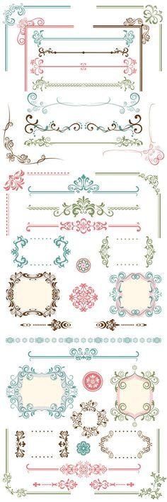 Classic Border Frame eps Vector thumb 450x1350 2684 エレガントで美しいフレーム、飾り枠、飾り罫、コーナー詰め合わせ   Free Style