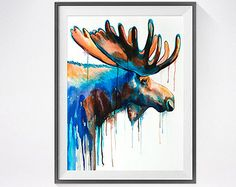 Bos dieren illustraties giclee prints Dier door Lemonillustrations