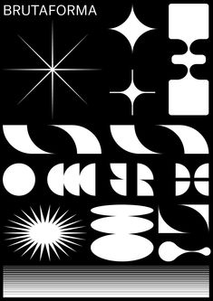 """""""BRUTAFORMA"""" Analyzing and composing some geometric and modern symbols and signs used in contemporary brutalism desing. B&W Poster 1 Color Screenprinted Design by Graphic Design Posters, Graphic Design Typography, Graphic Design Illustration, Graphic Design Inspiration, Graphic Art, Geometric Graphic Design, Geometric Poster, Geometric Designs, Gfx Design"""