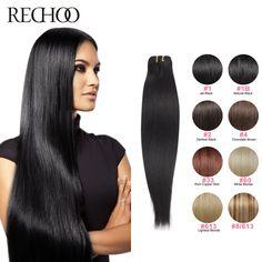페루 레미 인간의 머리카락 직조 스트레이트 100% 인간의 머리 직조 1 번들 검은 갈색 금발 20 22 24 인치 100 그램 당 세트