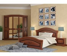 August Grove Cormiers European Panel Bed with Mattress Color: Walnut Queen Platform Bed, Upholstered Platform Bed, Bedroom Furniture Stores, Furniture Deals, Bedroom Bed Design, Beds Online, Living Styles, Panel Bed, Mattress