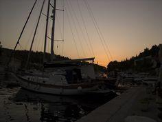 Sunset seen from Milna (port)