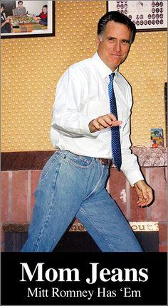 Mitt Romney has Mom Jeans