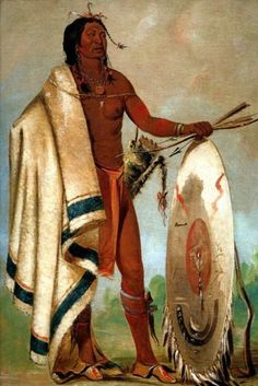 Smoked Shield A Distinguished Warrior American Indian 1832 George Catlin Repro | eBay
