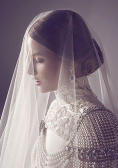 ☫ A Veiled Tale ☫ wedding, artistic and couture veil inspiration - bride