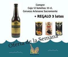 La OFERTA comprende 1 Caja con 12 Botellas de Cerveza ARTESANA 1598 SACROMONTE 33 cl. cada una + REGALO 1 Lata Aceituna Verde GOURMET Rellena de Pimiento LA EXPLANADA 360 gr. + 1 Lata Aceituna Negra Sin Hueso Deshuesada LA EXPLANADA 450 gr. + 1 Lata Aceituna Verde GOURMET Rellena de Anchoa LA EXPLANADA 450 gr.     Válida hasta el Domingo 14/08/2016 o hasta Fin de Existencias.     #TiendasOnline #gourmet #bottleandcan #Granada #Andalucía #España #Spain #oferta #regalo