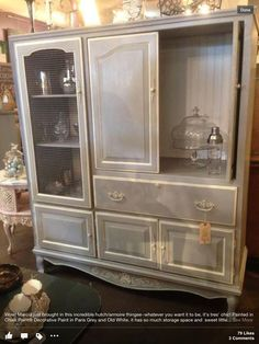 how to reuse an entertainment center - Pretty
