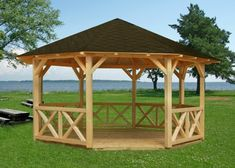 Gazebo kit Joanna on sale on BZB Cabins. All of our gazebo kits are designed for do-it-yourself assembly that can typically be completed in a day or two. Diy Gazebo, Wooden Gazebo, Gazebo Plans, Backyard Gazebo, Outdoor Pergola, Pergola Kits, Outdoor Rooms, Outdoor Living, Backyard Retreat