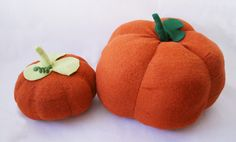 wool pumpkins by Laura Lee Burch