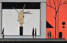 Over the Window - BRAFA 2015 | François Avril - Les passants d'Avril Windows, Sculpture, Gallery, Illustration, Painting, Ladder, Design, Canvas, Artist