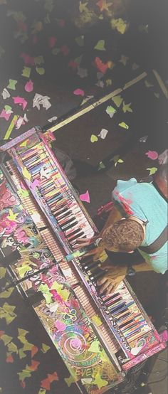 That is LITERALLY HIS PIANO