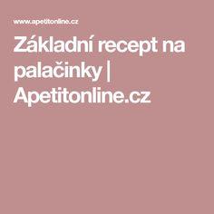 Základní recept na palačinky | Apetitonline.cz