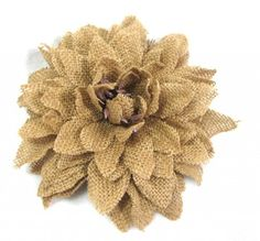 Rustic Brown Burlap Dahlia Hair Flower Clip and Pin * Learn more by visiting the image link.(This is an Amazon affiliate link and I receive a commission for the sales)
