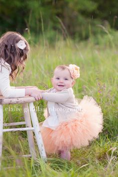 Sweet Peach Tutu - Perfect for photos and  flower girl  made in any size Newborn - 5T. $30.00, via Etsy.