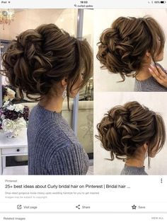To make an updo, you must bundle all of your hair up. Your short hair can become a lovely wispy updo! Even when you have short hair, it's still possible to rock a braided hairstyle for prom! Wedding Hair Side, Curly Wedding Hair, Elegant Wedding Hair, Wedding Updo, Wedding Bridesmaids, Wedding Bangs, Wedding Dress, Bridal Updo, Bridesmaid Bun