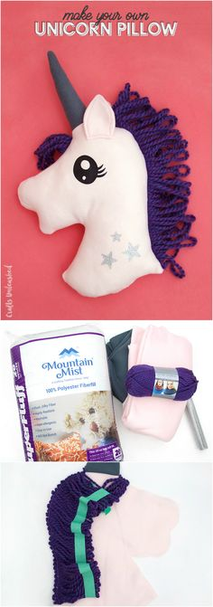 DIY Unicorn Pillow With Free Pattern