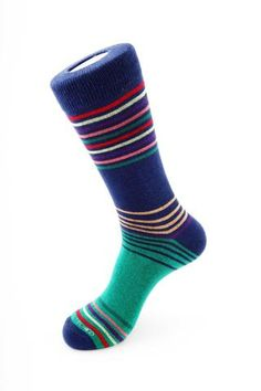Design & Features: Combed cotton for a softer-than-average feel Ribbed cuff 2 Ply construction for extra durability Reinforced Toe and Heel Combed Cotto Blue Socks, Striped Socks, Socks And Sandals, Custom Socks, Stitch, Clothes, Collection, Masters, Amp