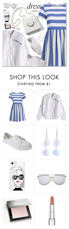 """Easy Outfitting: Throw-and-Go Dresses"" by oshint ❤ liked on Polyvore featuring Casetify, Burberry, Rimmel and Loren Stewart"