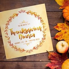 Create a Colorful Thanksgiving Dinner Invitation Template in Illustrator and Photoshop   MyDesignDeals