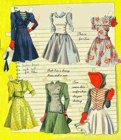 Big Big Cut Out Book pieced together - Bobe Green - Álbumes web de Picasa History Of Paper, Bobe, Vintage Paper Dolls, Retro Toys, Paper Toys, Wedding Paper, Beautiful Dolls, Glamour, Summer Dresses