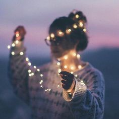 Photoshoot ideas | Fairylights wrapped around girl |  fashion street style beauty makeup hair men style womenswear shoes jacket
