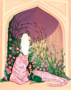 Time Blur — Tea Spirit of the Month for January - Rose Chai Pretty Art, Cute Art, Tag Art, Art Inspo, Animal Drawings, Art Drawings, Art Mignon, Posca Art, Japon Illustration