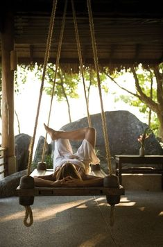 I want a huge swing thing that I can rest on like this.