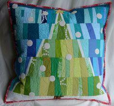 Improv Christmas pillow