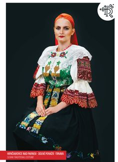 Hrnčiarovce nad Parnou, Slovakia Traditional Fashion, Traditional Outfits, Folk Costume, Costumes, Folk Embroidery, World Cultures, Peplum Dress, Bell Sleeve Top, Womens Fashion
