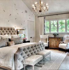 Classic Chic Home: Interior Designer Showcase: Julie Dodson Dodson Interiors The best interior design ideas Romantic Master Bedroom, Gray Bedroom, Trendy Bedroom, Beautiful Bedrooms, Home Bedroom, Bedroom Decor, Bedroom Ideas, Master Room, House Beautiful