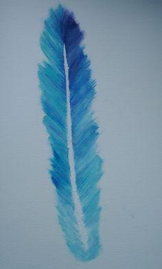 feather oil painting #DaniellaGallistl