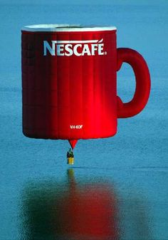 Nescafe hot air balloon anyone? Air Balloon Rides, Hot Air Balloon, Vintage Neon Signs, Air Ballon, Guerilla Marketing, Coffee Pictures, Colourful Balloons, Above The Clouds, Nescafe